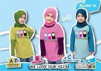 kaos anak muslim perempuan We love our hijab