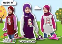 kaos anak muslim perempuan I love islam