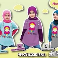 kaon anak muslim perempuan I love my Hijab