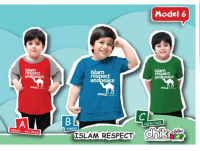 kaos anak muslim label Islam respect