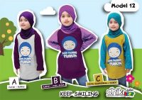 kaos anak muslim Keep smiling