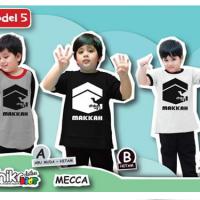 kaos anak muslim label Makkah